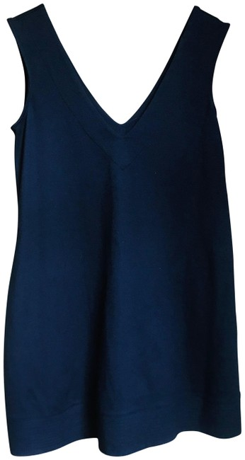 Item - Navy Bedford Tunic Short Casual Dress Size OS