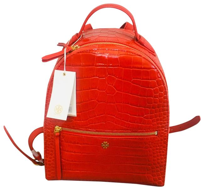 Item - Croc-embossed Mini Liberty Red Leather Backpack