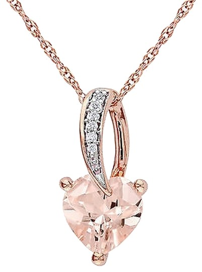 Preload https://item2.tradesy.com/images/10k-pink-gold-diamond-1-110-ct-morganite-heart-love-pendant-necklace-chain-2746501-0-0.jpg?width=440&height=440