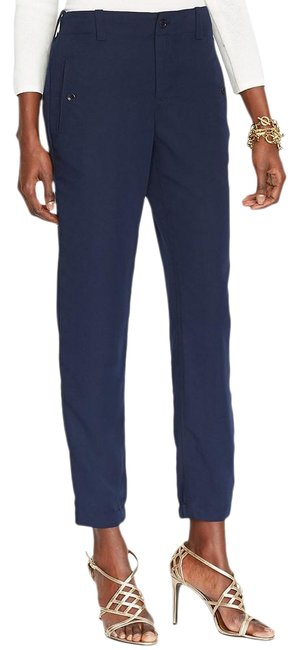 Item - Blue Sueded Viscose Blend Twill Ankle 16w Pants Size 16 (XL, Plus 0x)