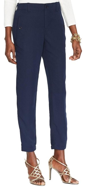 Item - Blue Sueded Viscose Blend Twill Ankle 14w Pants Size 14 (L, 34)