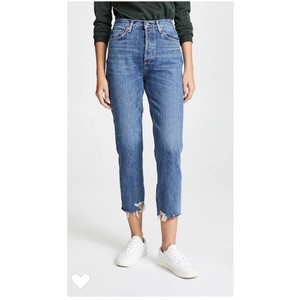 AGOLDE Straight Leg Jeans-Distressed