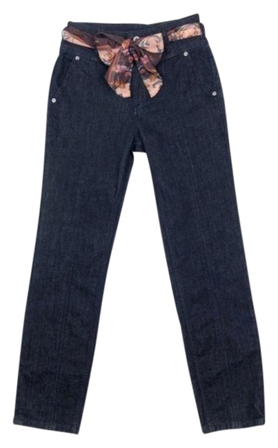 Item - Blue Dark Rinse Pilcro High Slim Straight New Capri/Cropped Jeans Size 25 (2, XS)