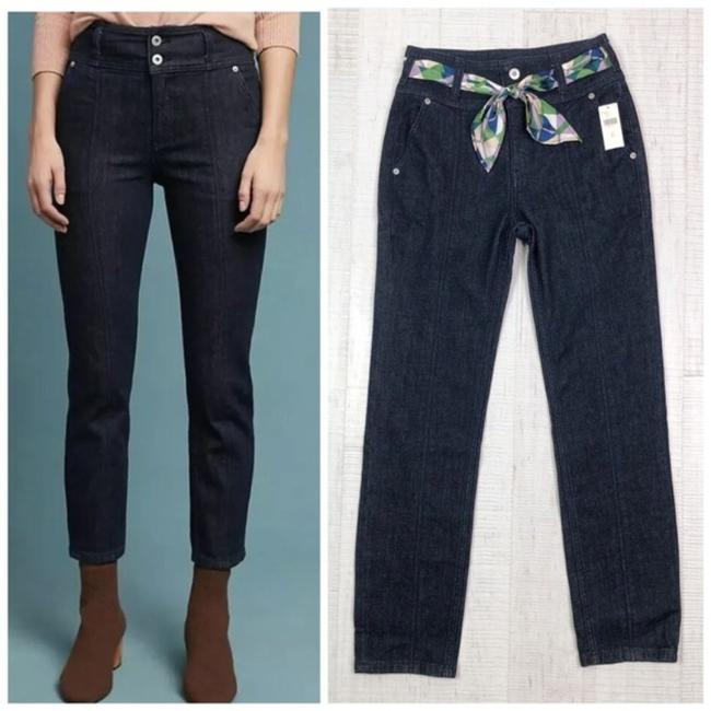 Item - Blue Dark Rinse Pilcro and The Letterpress High Slim Straight Capri/Cropped Jeans Size 25 (2, XS)