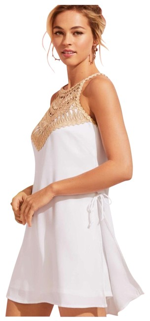 Item - White and Gold Pearl Romper/Jumpsuit