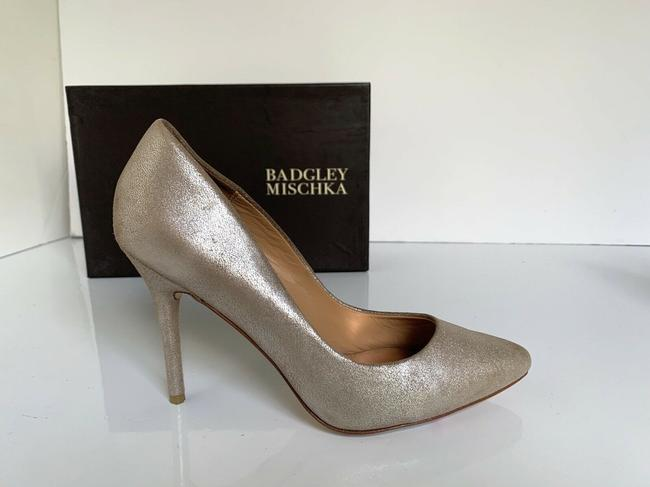 Item - Gold, Rose Gold Vision Pointed Toe Heel Platino Metallic Suede Pumps Size US 8 Regular (M, B)