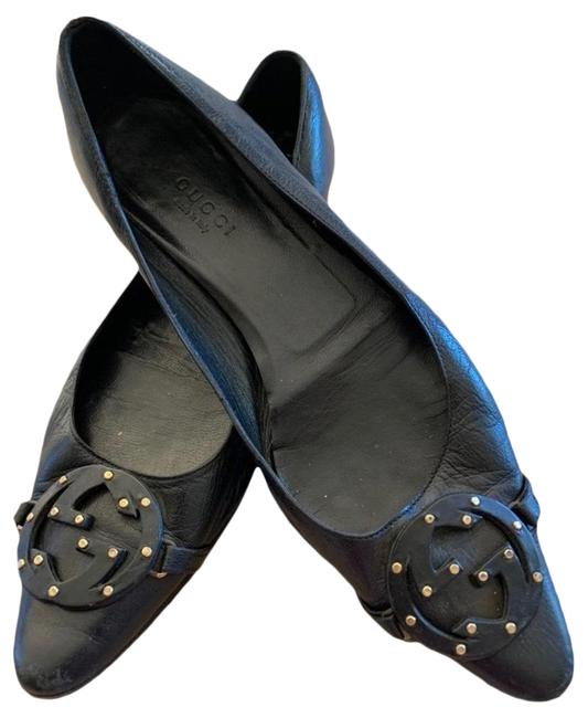 Item - Black Leather Flats Size EU 36.5 (Approx. US 6.5) Regular (M, B)
