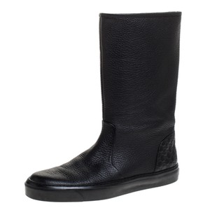 Gucci Microguccissima Leather Midcalf Black Boots