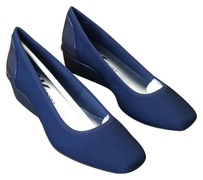 Anne Klein Blue Sport Wisher Wedge Pumps Platforms Size US 8.5 Regular (M, B) Anne Klein Blue Sport Wisher Wedge Pumps Platforms Size US 8.5 Regular (M, B) Image 1