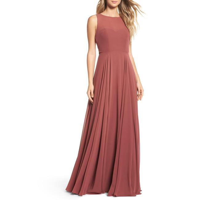 Item - Cinnamon Rose Elizabeth Chiffon Gown Long Formal Dress Size 10 (M)
