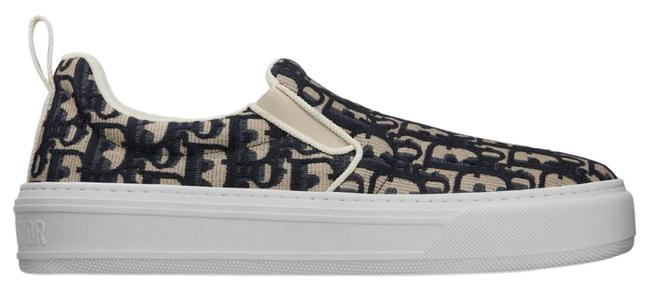 Item - Navy Blue Solar Oblique Embroidered Cotton Sneakers Size EU 39 (Approx. US 9) Regular (M, B)