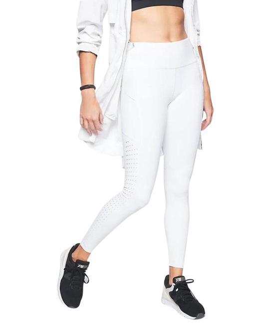 Item - White Laser Cut Contender Yoga Running Tight Activewear Bottoms Size 8 (M, 29, 30)