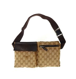 Gucci GG Monogram Canvas Leather Fanny Waist Travel Pack