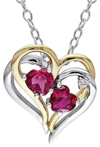 Preload https://item1.tradesy.com/images/sterling-silver-ruby-and-diamond-two-tone-double-heart-love-pendant-necklace-2746915-0-0.jpg?width=440&height=440