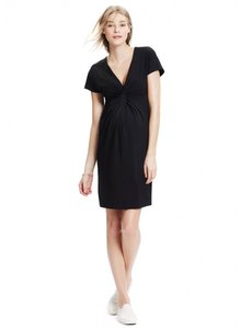 Hatch short dress charcoal V-neck Jersey Maternity Classic Comfortable on Tradesy