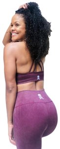 SoulCycle NWT new with tags SoulCycle Seamless Set Burgundy sports bra leggings