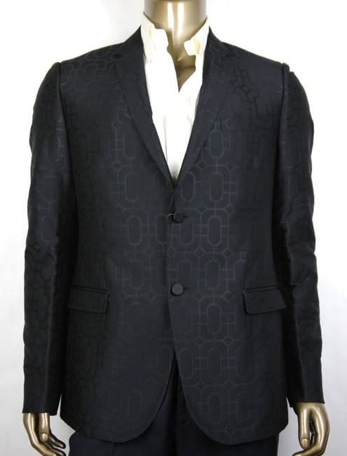 Item - Black Emerald Jacquard Dylan 60 Jacket 2 Buttons It 48r/Us 38r 322626 Groomsman Gift