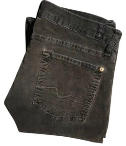 7 For All Mankind Corduroy Cords Boot Cut Jeans-Dark Rinse