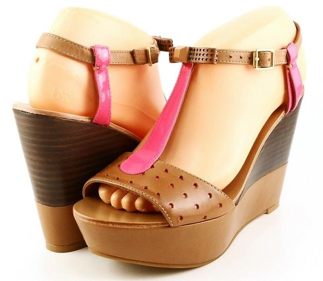 Item - Brown / Dragon Fruit Kati Leather Sandals Wedges Size US 7.5 Regular (M, B)