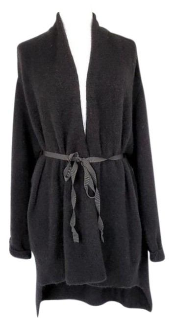 Item - Black Anthropologie Vallon Wool Blend M Ribbon Tie Cardigan Size 8 (M)