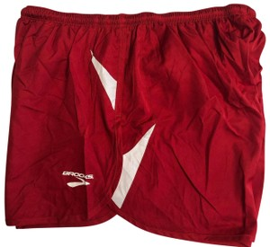 Brooks BROOKS Women's Running Red Built-in Briefs Athletic Shorts Size Large