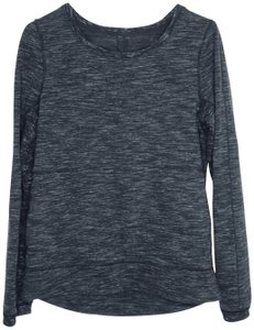 Lululemon Lululemon Pleated Back Crew Heathered Space Dyed Yoga Athleisure k19