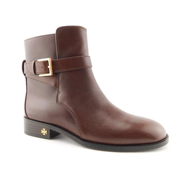 Tory Burch Perfect Brown Leather Logo Buckle Strapped Ankle Boots/Booties Size US 7 Regular (M, B) Tory Burch Perfect Brown Leather Logo Buckle Strapped Ankle Boots/Booties Size US 7 Regular (M, B) Image 1