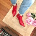 Zara Red Leather Boots/Booties Size US 7.5 Regular (M, B) Zara Red Leather Boots/Booties Size US 7.5 Regular (M, B) Image 4