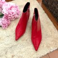 Zara Red Leather Boots/Booties Size US 7.5 Regular (M, B) Zara Red Leather Boots/Booties Size US 7.5 Regular (M, B) Image 5