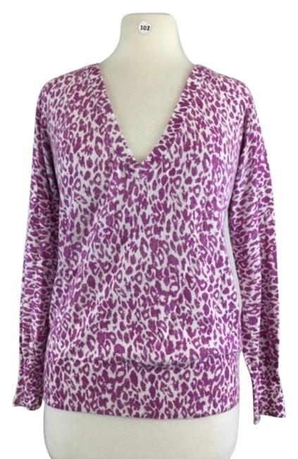 Item - Purple & White Multi Neck Shirt Blouse Size 6 (S)