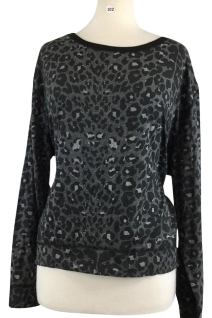 Item - Black L Animal Print Shirt Blouse Size 12 (L)