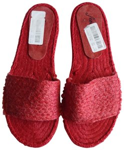 Free People Red Sandals