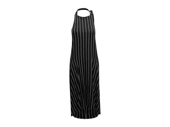 Item - Black & White Striped Halter Long Casual Maxi Dress Size 4 (S)