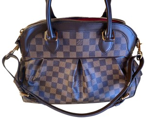 Louis Vuitton Satchel in Brown with Gold, Red Interior.