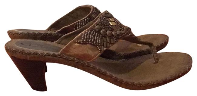 CL by Laundry Tan/Bronze Thong Heels Sandals Size US 10 Regular (M, B) CL by Laundry Tan/Bronze Thong Heels Sandals Size US 10 Regular (M, B) Image 1