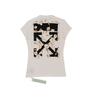 Off-White™ Cotton Summer Logo Graphic Floral T Shirt White