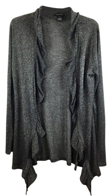 Karen Kane Xl Open Front Long Sleeves Cover Up Size Silver Sweater Tradesy