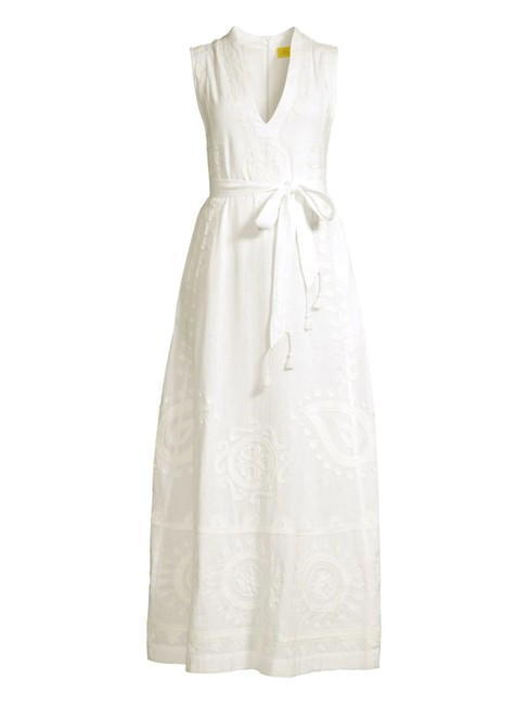 Item - White Isabis Linen Long Casual Maxi Dress Size 4 (S)