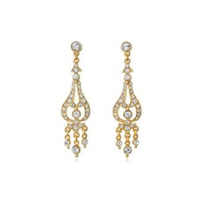 Item - Gold Crystal Chandelier Earrings