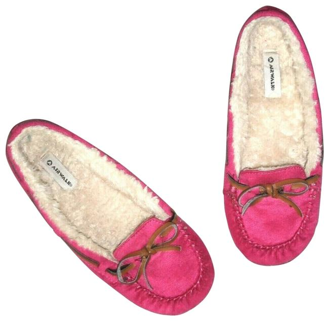 Item - Pink Faux Suede Fur Penny Loafers Moccasin Slipper Flats Size US 5 Regular (M, B)