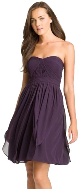 Item - Purple Convertible Keira Strapless Chiffon Short Formal Dress Size 4 (S)