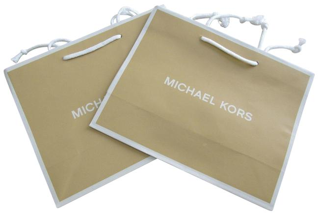 Item - Beige New Empty Gift Bag Lot Of Two