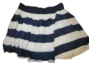 Abercrombie & Fitch Striped Skirt Navy/White Stripes