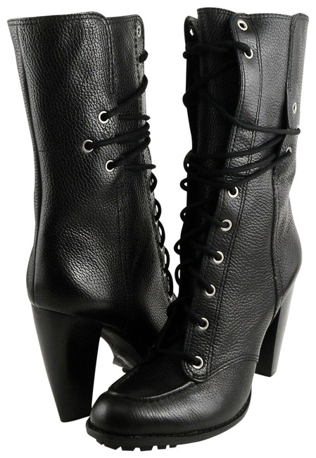 Item - Black Everly Leather Mid-calf Boots/Booties Size US 9.5 Regular (M, B)