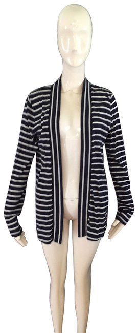 Item - Navy and White Crew Cardigan Size 6 (S)