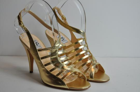 Barneys Co-Op Abbey Luce Leather Gold Sandals