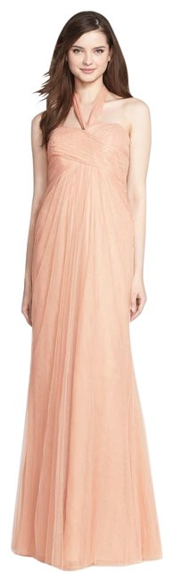 Item - Cameo Pink Willow Tulle Bridesmaid Gown Long Formal Dress Size 10 (M)