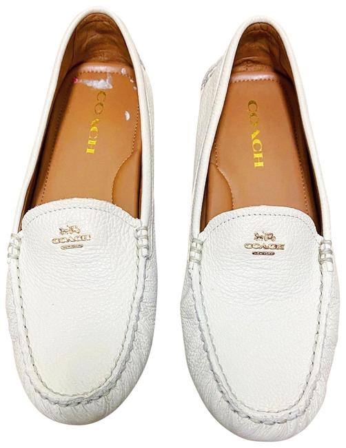 Item - White Driver Loafers Flats Size US 8.5 Regular (M, B)