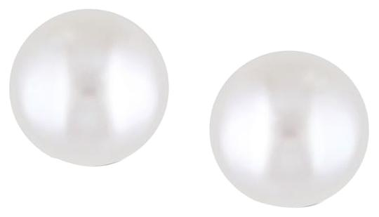 Other Sterling Silver 8-9mm Pearl Stud Earrings