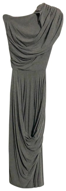 Butter by Nadia Dark Gray Long Casual Maxi Dress Size 6 (S) Butter by Nadia Dark Gray Long Casual Maxi Dress Size 6 (S) Image 1